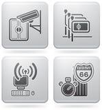 Ícones relacionados do hotel ilustração royalty free