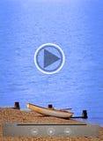 Ícones relativos à promoção do vídeo do turismo do feriado Fotos de Stock
