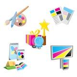 Ícones relativos à promoção dos artigos Imagem de Stock