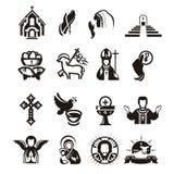 Ícones religiosos ilustração do vetor