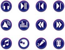 Ícones - série 1 da música Imagens de Stock
