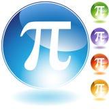 Ícones - símbolo grego Pi Foto de Stock Royalty Free