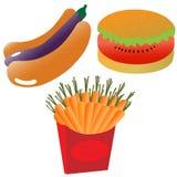 Ícones saudáveis comer Imagens de Stock Royalty Free