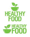 Ícones saudáveis do alimento. Imagens de Stock