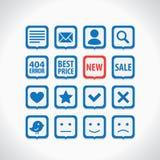 Ícones simples ajustados Foto de Stock