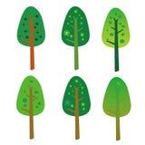 Ícones simples da árvore Imagem de Stock Royalty Free