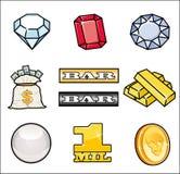 Ícones simples do casino Foto de Stock