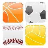 Ícones simples do esporte Fotos de Stock