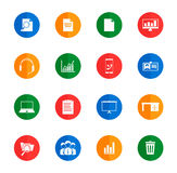 Ícones simples do negócio Imagens de Stock Royalty Free