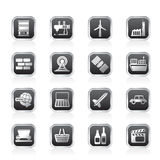 Ícones simples do negócio e da indústria Imagem de Stock Royalty Free