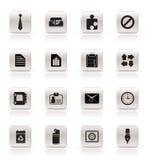 Ícones simples do negócio e do escritório ilustração do vetor