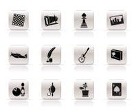 Ícones simples do passatempo, do lazer e do feriado - vetor mim Fotos de Stock Royalty Free