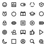 Ícones simples do vetor da relação ajustados ilustração royalty free