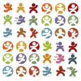 Ícones simples dos povos Foto de Stock Royalty Free