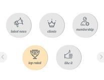 Ícones simples para o Web Fotografia de Stock Royalty Free
