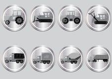 ícones sob a forma das teclas Fotos de Stock