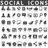 Ícones sociais ilustração royalty free
