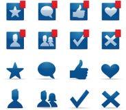 Ícones sociais da coligação Foto de Stock Royalty Free