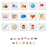 Ícones sociais da rede Fotografia de Stock