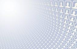 Ícones sociais da rede Imagem de Stock
