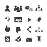 Ícones sociais da rede Foto de Stock