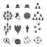 Ícones sociais da rede ajustados Imagem de Stock