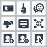 Ícones sociais da rede do vetor ajustados Foto de Stock Royalty Free