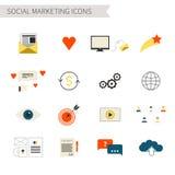 Ícones sociais do mercado Foto de Stock