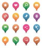 Ícones sociais dos media Imagens de Stock
