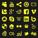 Ícones sociais dos media Foto de Stock