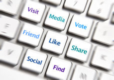 Ícones sociais dos trabalhos em rede Imagens de Stock