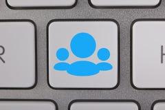 Ícones sociais dos usuários da rede Imagens de Stock