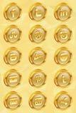 Ícones sociais dourados v.2.0 dos meios Foto de Stock Royalty Free