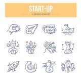 Ícones Start-Up da garatuja Fotos de Stock