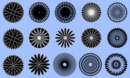 Ícones symmetic redondos Imagem de Stock Royalty Free
