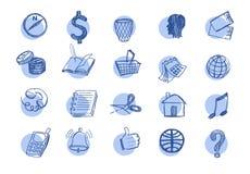 Ícones tirados da Web Imagem de Stock Royalty Free
