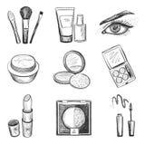 Ícones tirados mão da composição ilustração stock