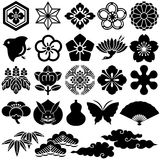 Ícones tradicionais japoneses Imagens de Stock Royalty Free