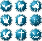 Ícones. Um tema de um Halloween. Foto de Stock