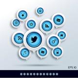 Ícones universais da Web Imagens de Stock Royalty Free