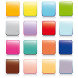 Ícones vívidos do molde colorido Imagem de Stock Royalty Free
