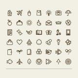 Ícones variados Foto de Stock Royalty Free