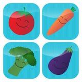Ícones vegetais Imagens de Stock