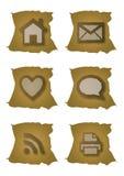 Ícones velhos do Web Foto de Stock Royalty Free