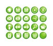 Ícones verdes Foto de Stock