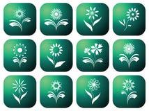 Ícones verdes de Eco. Imagens de Stock Royalty Free