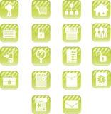 Ícones verdes do Aqua Imagem de Stock Royalty Free