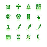 Ícones verdes do software Foto de Stock Royalty Free