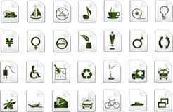 Ícones verdes do vetor Fotografia de Stock Royalty Free