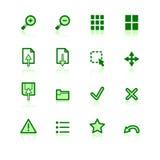 Ícones verdes do visor Foto de Stock